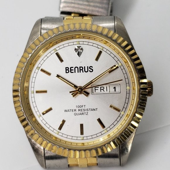 Benrus two toned mens watch